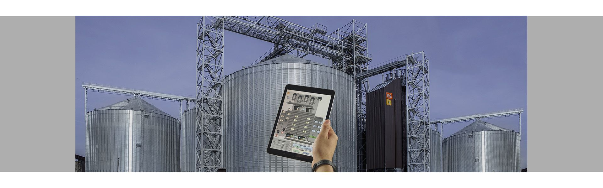 Automated control of grain storage complex