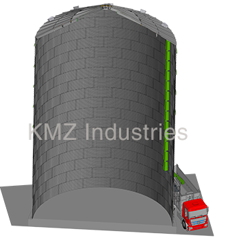 Боковая выгрузка силос ВВК KMZ Industries